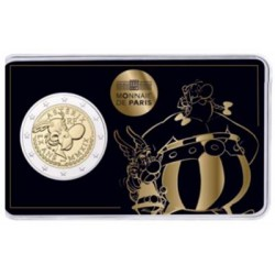 Frankrijk 2 euro 2019 '60 jaar Asterix' - BU-kwaliteit in coincard 'Asterix en Obelix'