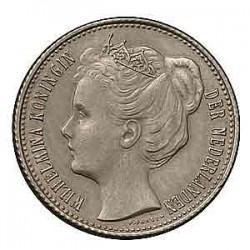 Koninkrijksmunten Nederland Complete serie ½ guldens Wilhelmina de jaren 1898, 1904, 1905, 1906, 1907, 1908, 1909, 1910, 1912, 1