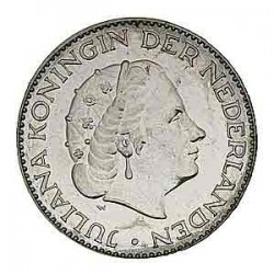 Koninkrijksmunten Nederland 1 gulden 1954
