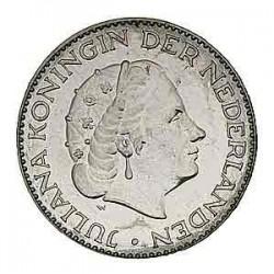 Koninkrijksmunten Nederland Complete serie Juliana 1 gulden 1954 – 1967 in zilver