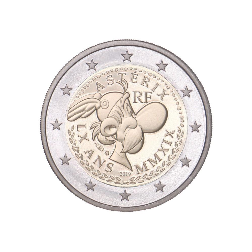 Frankrijk 2 euro 2019 '60 jaar Asterix' - BU-kwaliteit in coincard 'Asterix'