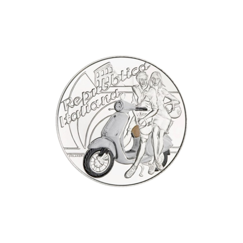 Italië 5 euro 2019 'Vespa' witte editie