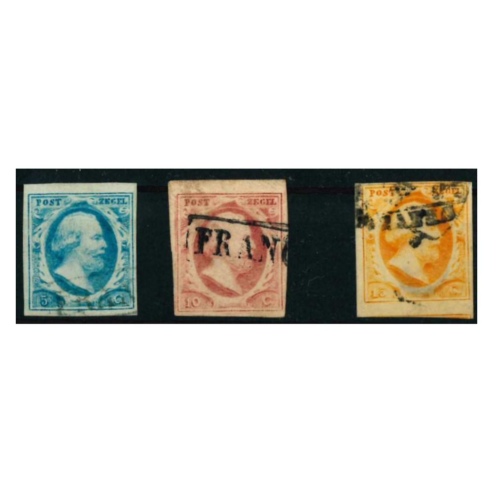 1852 Nederland postzegels   Koning Willem III