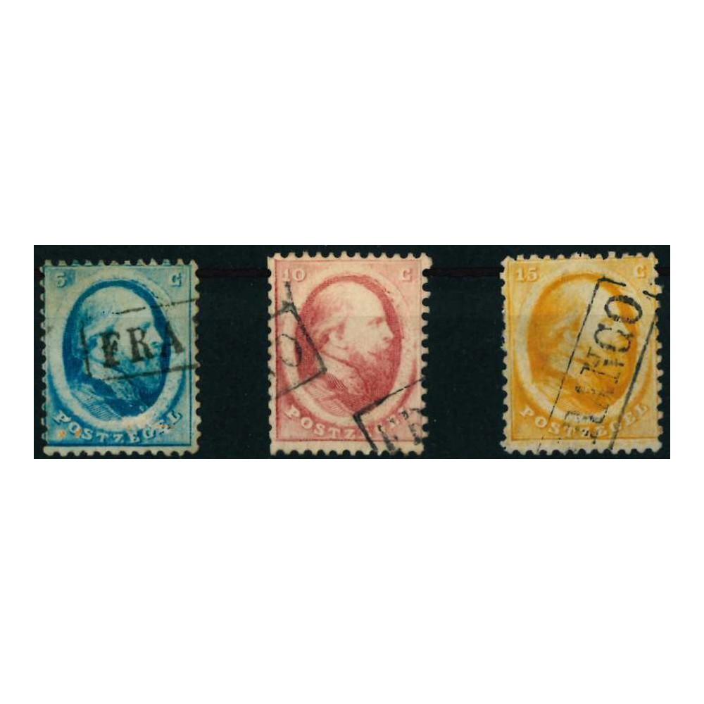 1864 Nederland postzegels | Koning Willem III