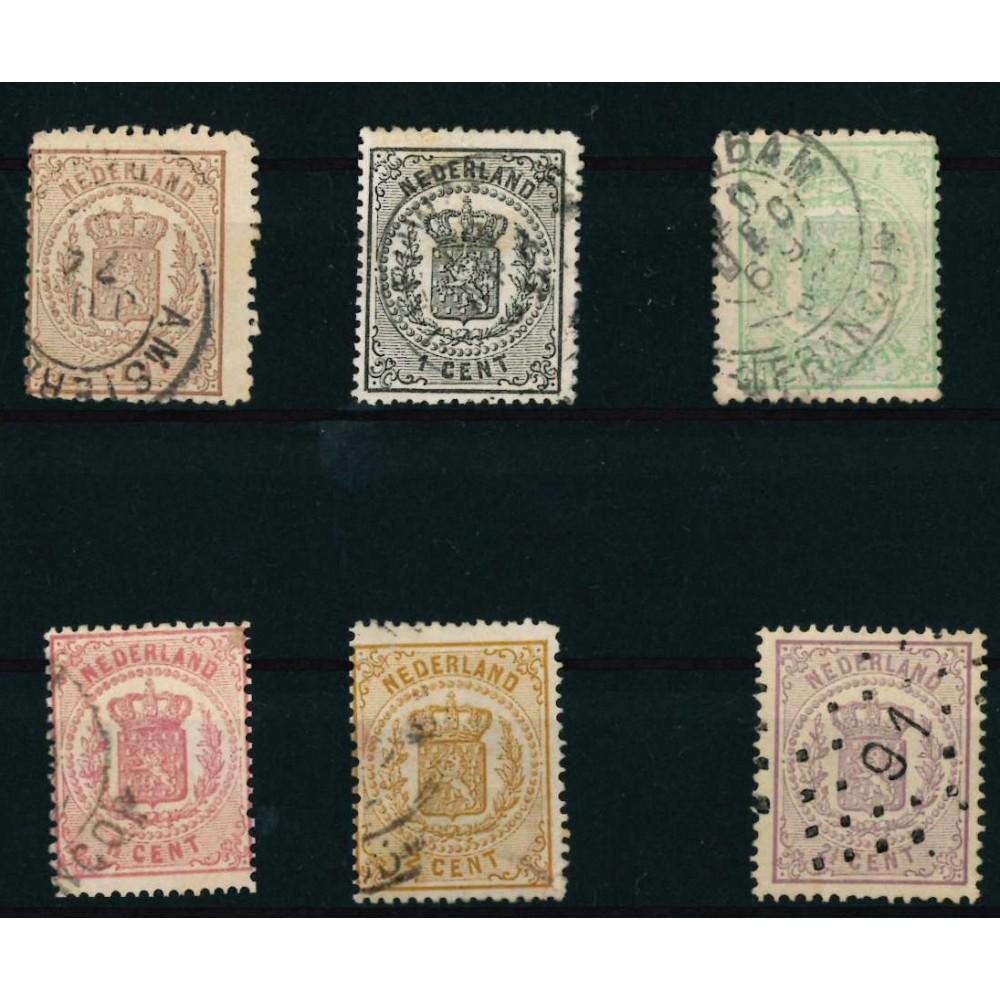 1869-1871 Nederland postzegels   Wapenzegels