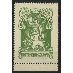1916 Nederland Interneringszegel | Nederlandse Maagd met leeuw