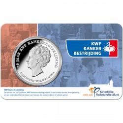 """Nederland penning in coincard 2019 """"KWF kankerbestrijding"""" Maximaal 5 per klant"""
