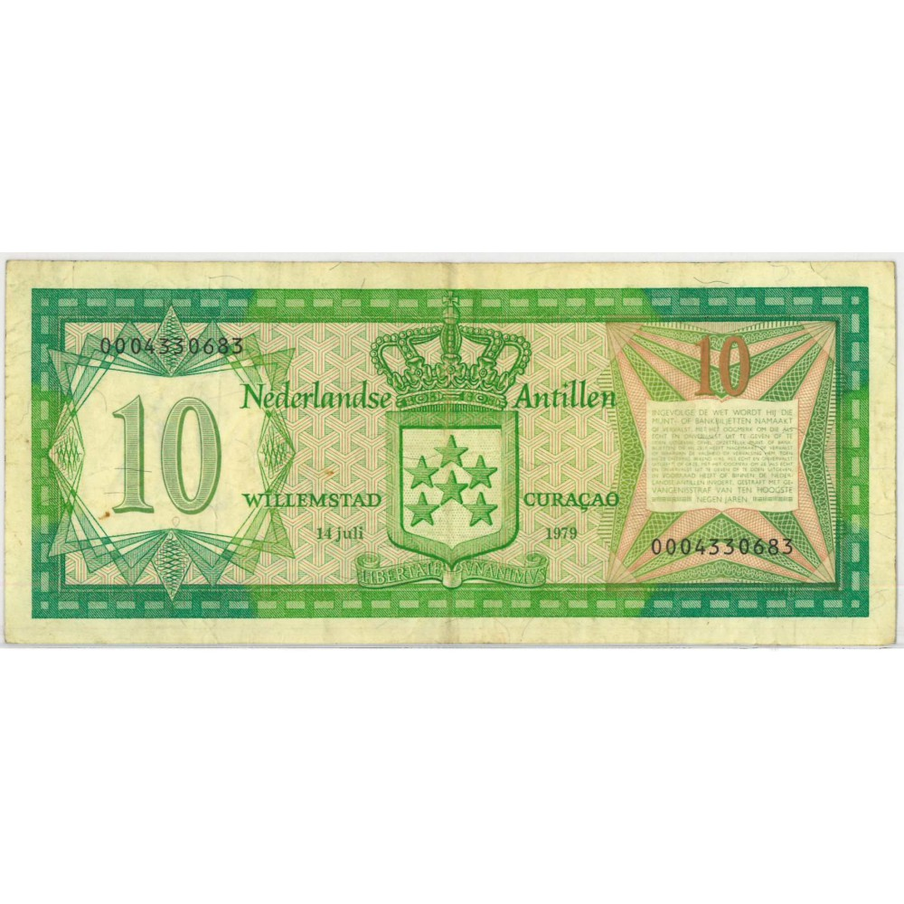 Nederlandse Antillen 10 gulden 1979