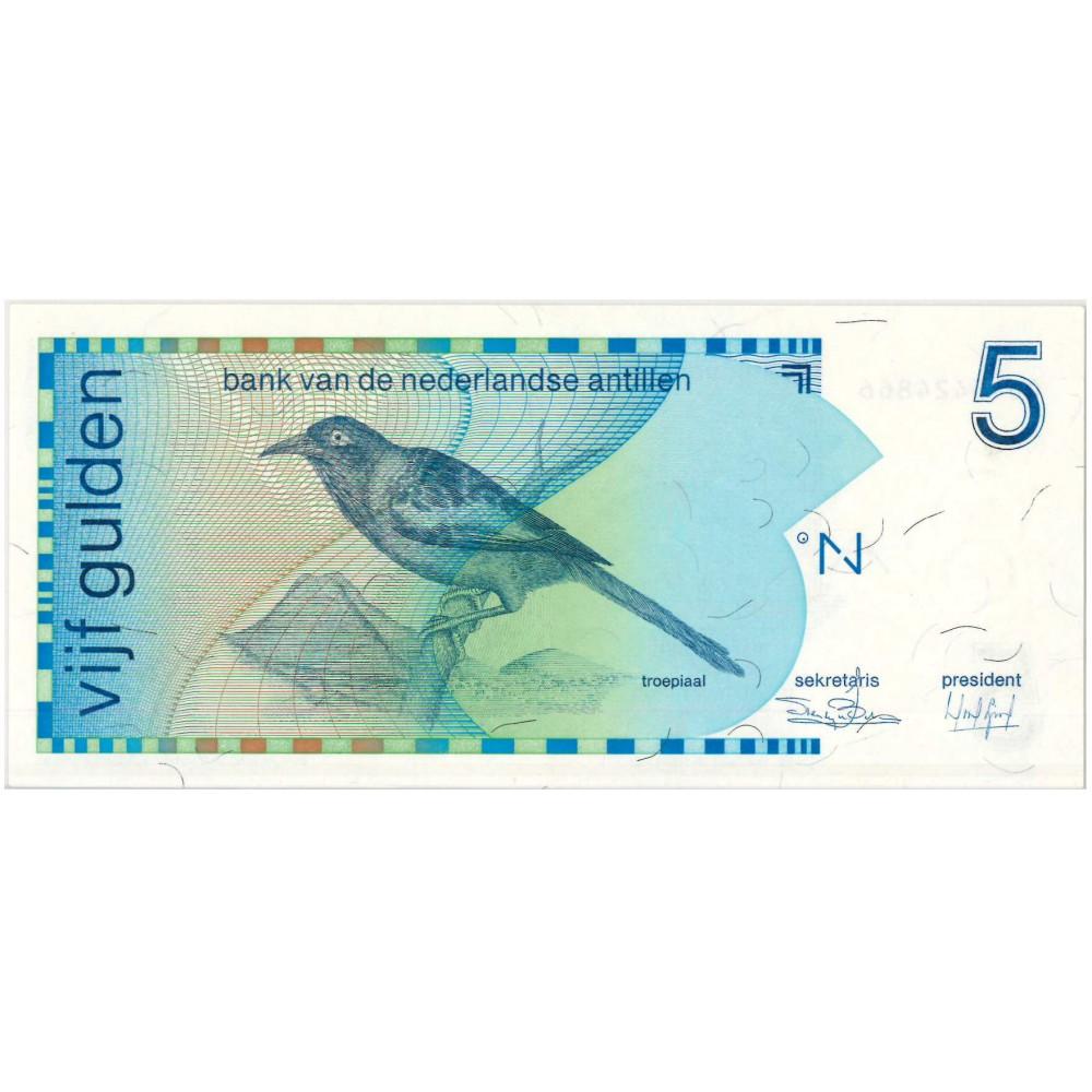 Nederlandse Antillen 5 gulden 1986