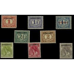 1913 Nederland Dienstzegels | Opdruk ARMENWET in zwart op frankeeerzegels uitgiften 1899-1913 en 1899-1921