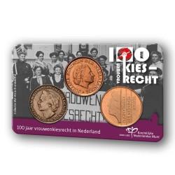 Nederland stuivers in coincard 2019 '100 jaar vrouwen kiesrecht'
