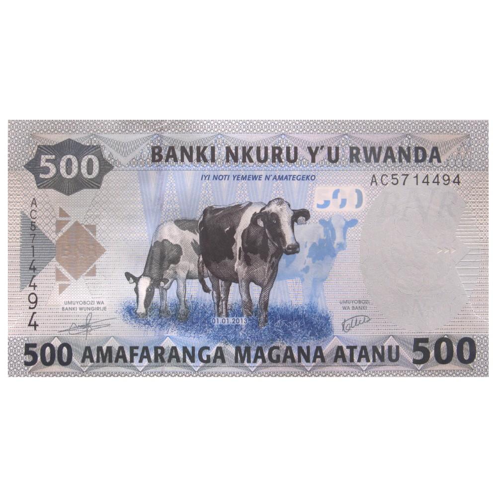 Rwanda 500 shillings 2013