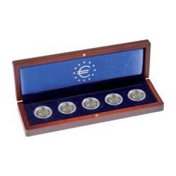 Munten etui VOLTERRA voor vijf 2-euromunten in capsules