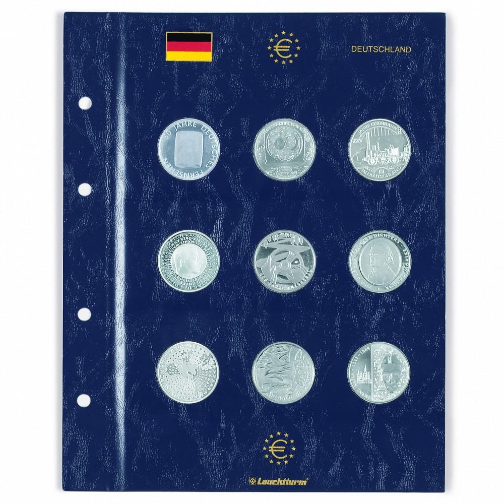 Leuchtturm VISTA aanvullingsblad voor 2 euromunten 'Bondsraad'