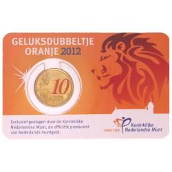 Nederland 10 cent 2012 'Geluksdubbeltje' - speciale uitgifte in kleur