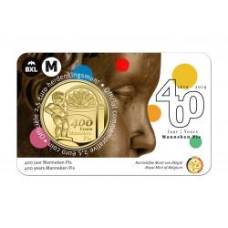 België 2,5 euro 2019 '400 jaar Manneken Pis' Ned/Eng tekst Max. 2 per klant.