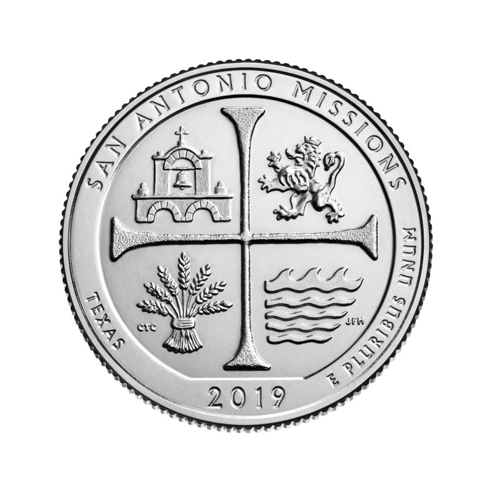 USA Quarter 2019 Texas 'San Antonio Missions'