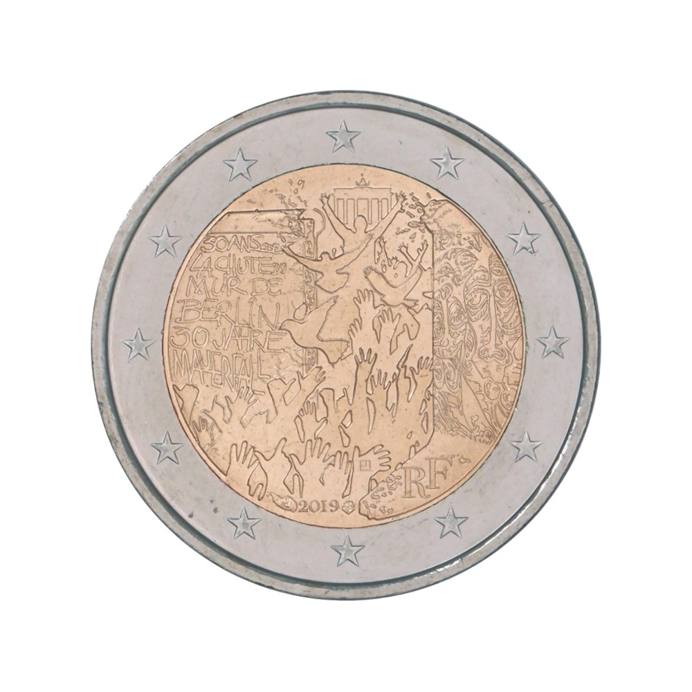 Frankrijk 2 euro 2019 'Val Berlijnse muur'