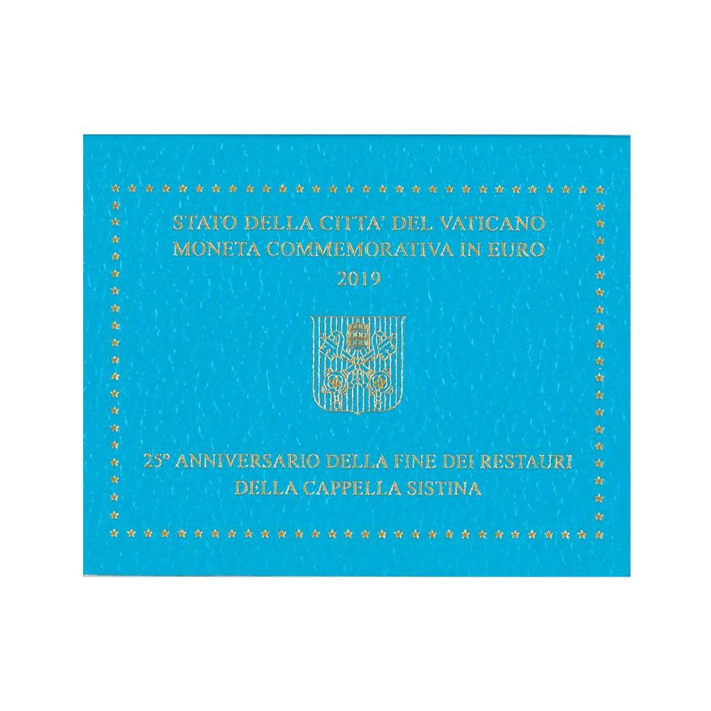 Vaticaan 2 euro 2019 '25 jaar restauratie Sixtijnse kapel'
