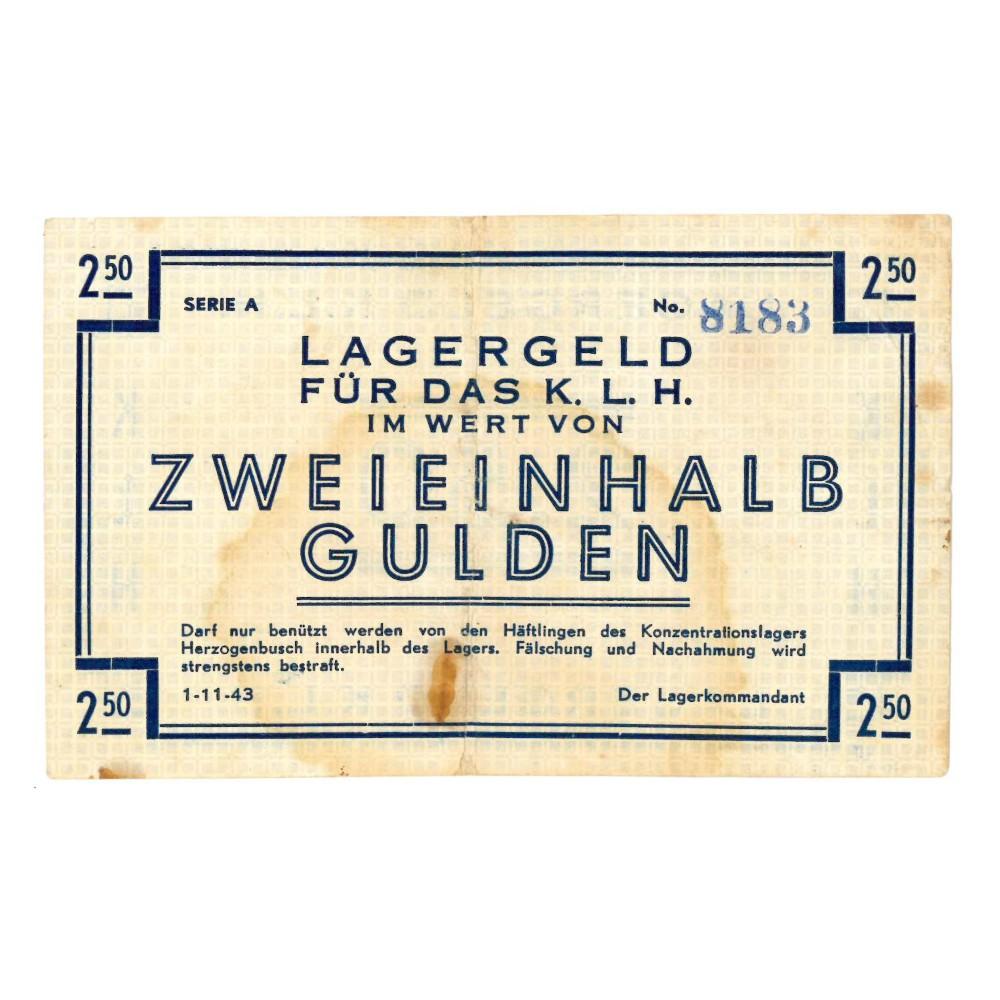 's Hertogenbosch - 2,5  gulden 1943