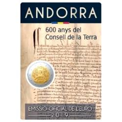 Andorra 2 euro 2019 '600 jaar Parlement van Andorra'