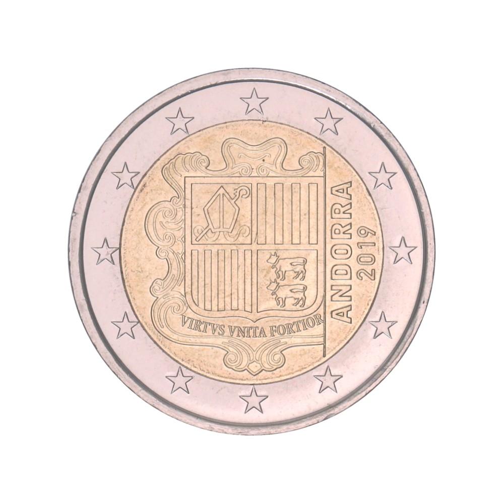 Andorra 2 euro 2019 'Wapen van Andorra' circulatiemunt