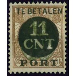1924 Nederland Postpakket-verrekenzegel | Frankeerzegels der uitgiften 1899-1921, overdrukt in zwart