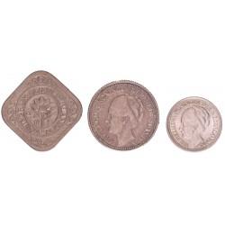 serie 'Duitse inval' 5, 10, 25 cent