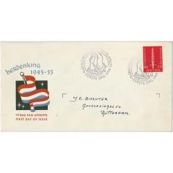 1955 Nederland FDC | Bevrijding
