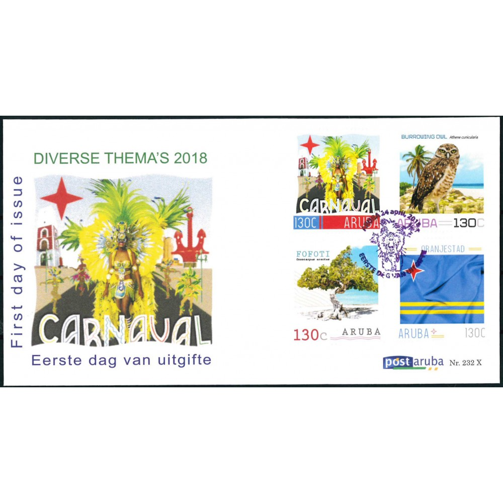 2018 Aruba FDC   Carnaval