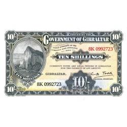 Gibraltar 10 shillings souvenir biljet 2018