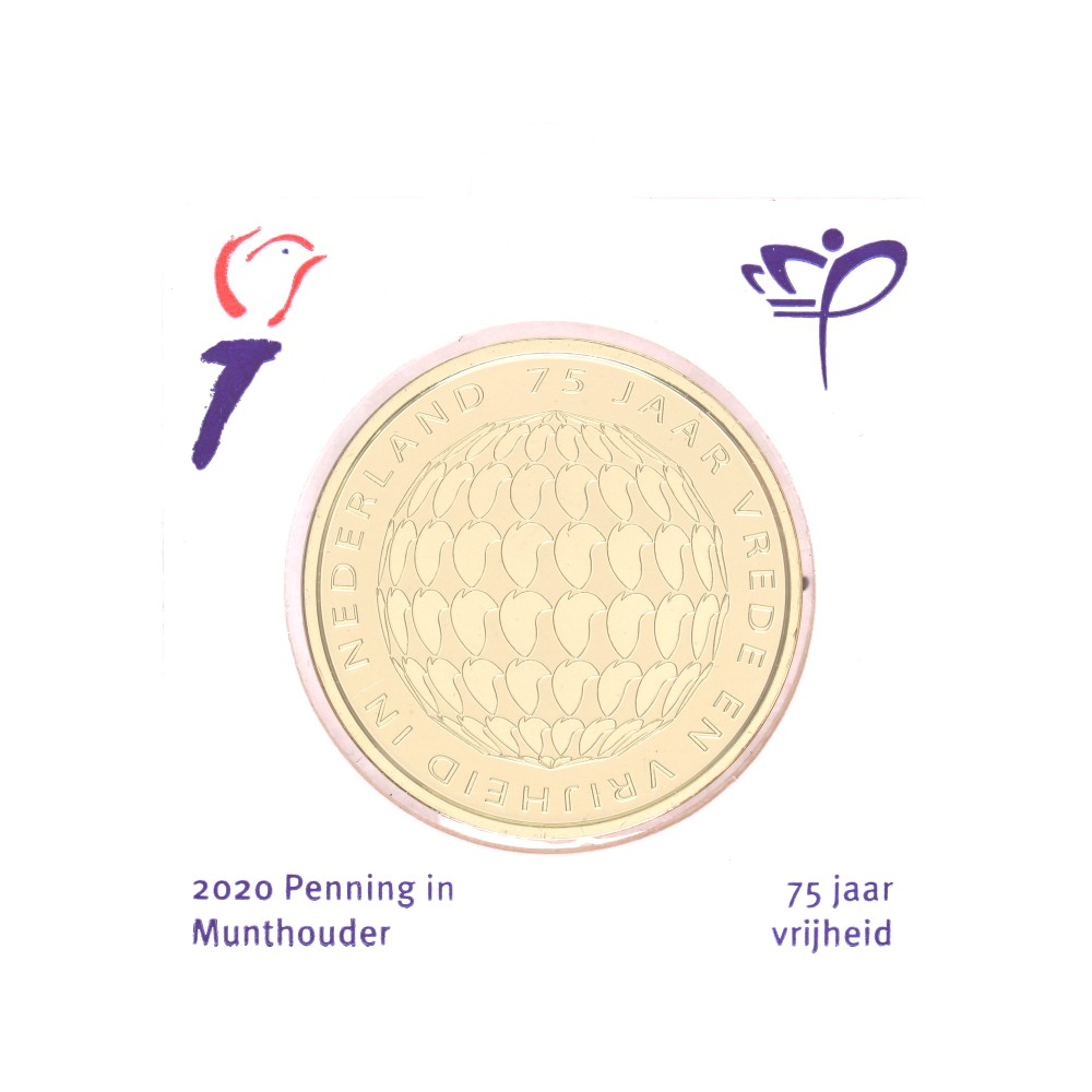 Nederland officiële munthouder 2020 '75 jaar Vrijheid in Nederland'