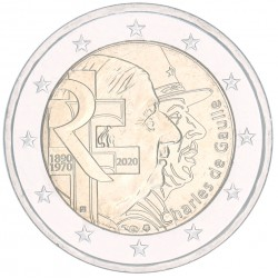 Frankrijk 2 euro 2020 'Charles de Gaulle'