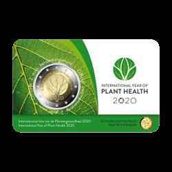 België 2 euro 2020 'Internationaal jaar van de plantengezondheid' BU in coincard
