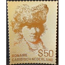 2019 Caribisch Nederland postzegel   Bonaire, Rembrandt in goud