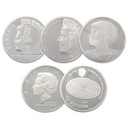 Koninkrijksmunten Nederland Complete serie Beatrix 10 gulden 1994-1999