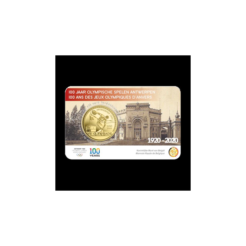 België 2,5 euro 2020 '100 jaar Olympische Spelen Antwerpen' reliëf BU in coincard