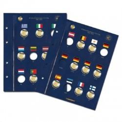 Leuchtturm VISTA aanvullingsbladen voor 2 euromunten '30 jaar Europese vlag'