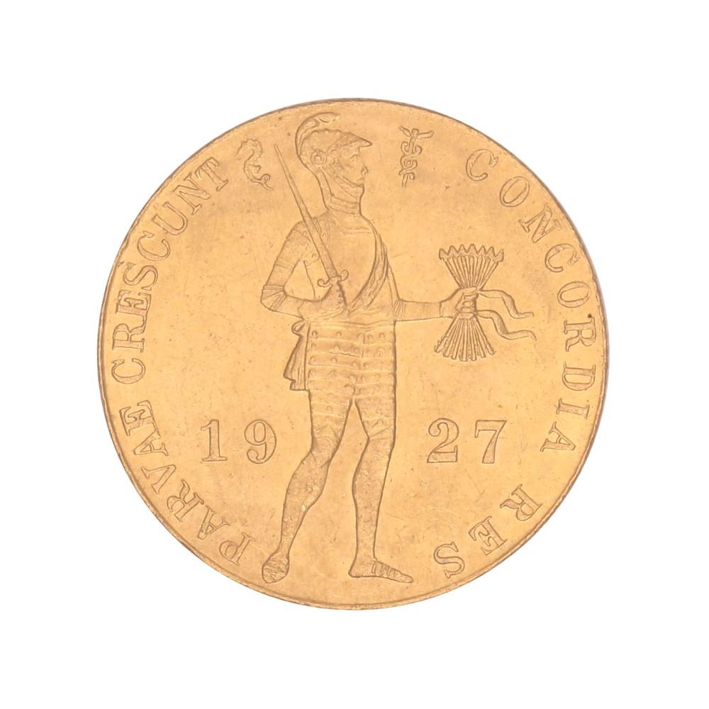 Koninkrijksmunten Nederland Gouden dukaat 1927