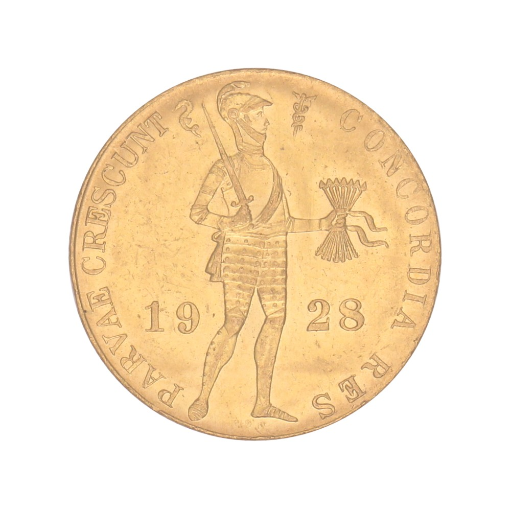 Koninkrijksmunten Nederland Gouden dukaat 1928