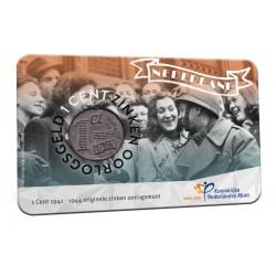 Nederland 75 jaar bevrijding 2020 in coincard.