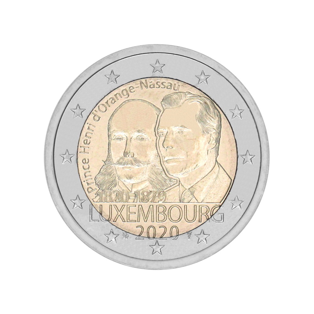 Luxemburg 2 euro 2020 'prins Hendrik van Oranje-Nassau'