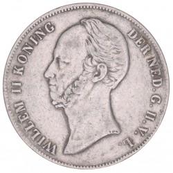 Koninkrijksmunten Nederland 2,5 gulden Koning Willem II diverse jaren
