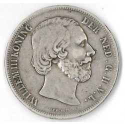 Koninkrijksmunten Nederland 2,5 gulden Koning Willem III diverse jaren