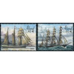 2019 Aland postzegels   Zeilschepen Veneta en Parma