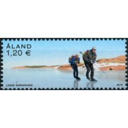 2019 Aland postzegel   Schaatsen cross country