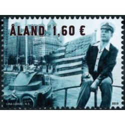 2019 Aland postzegel   Uno Ekblom Wereldrecord