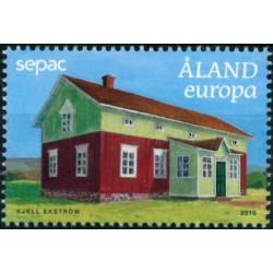 2019 Aland postzegel   Oude huizen