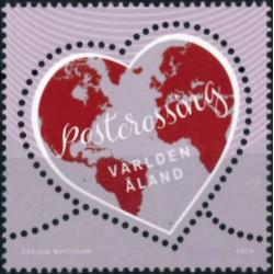 2019 Aland postzegel   Postcrossing
