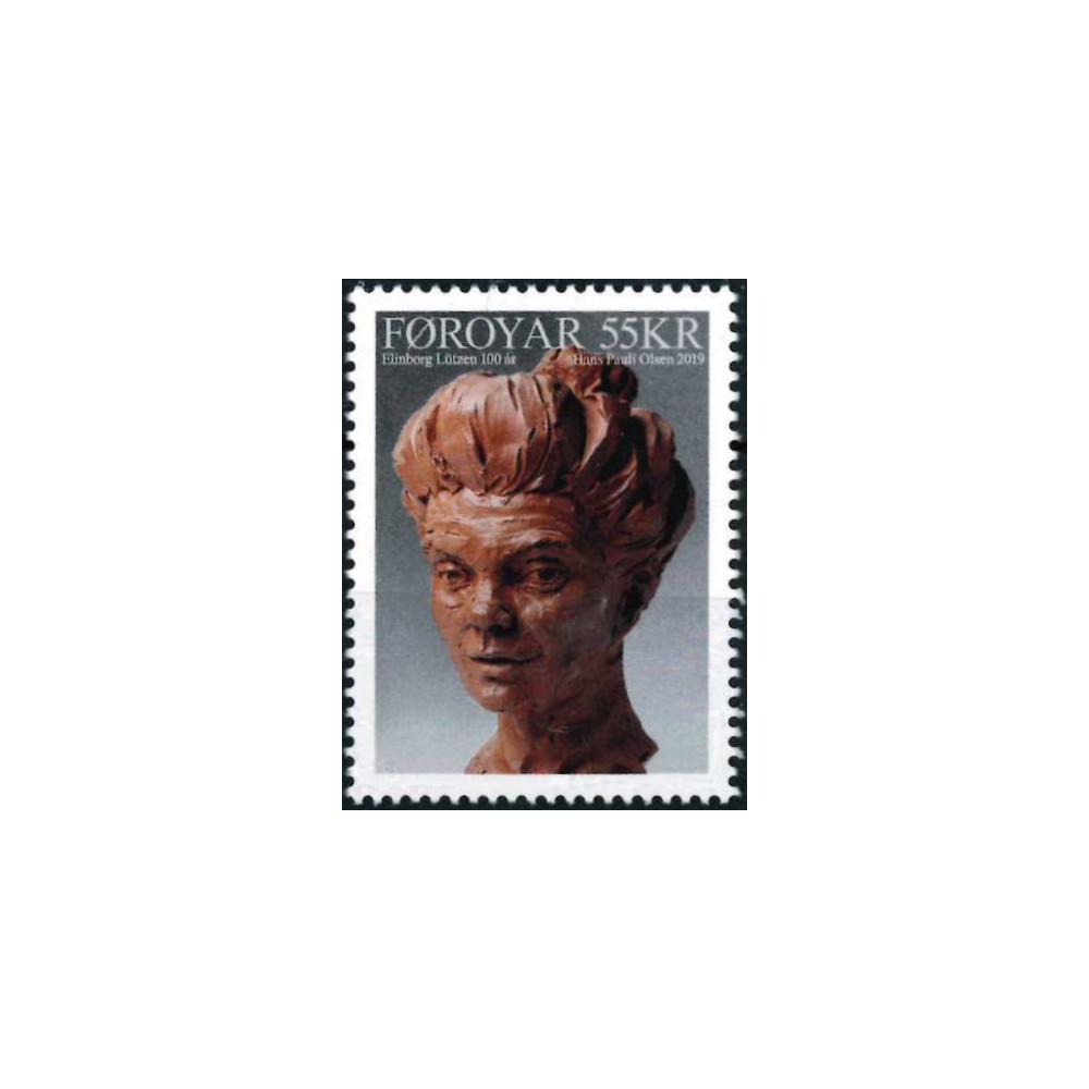 2019 Färöer postzegel   Elinborg Lützen